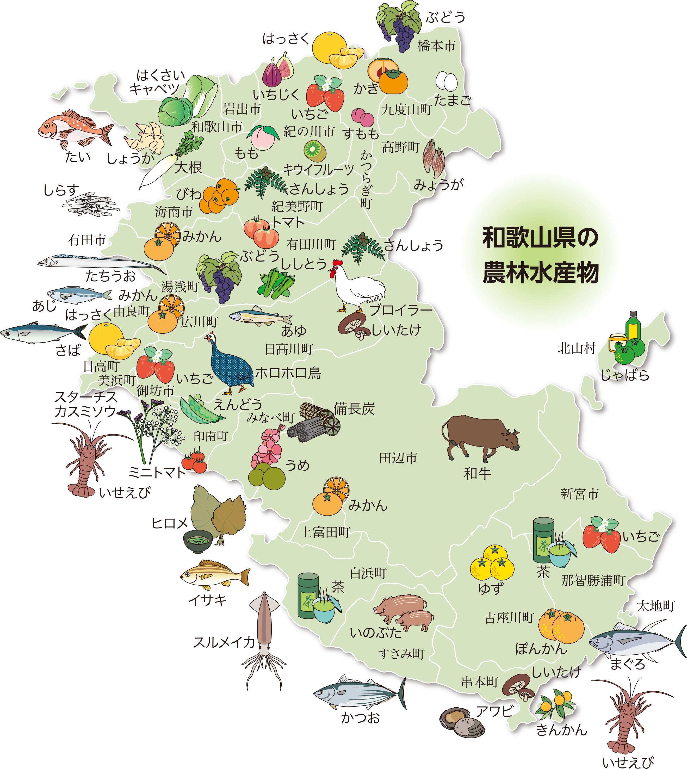和歌山県の農林水産物